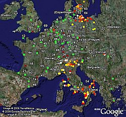 Lightning Data in Google Earth