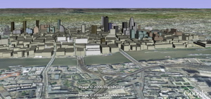 Eastern London 3D buildings in Google Earth