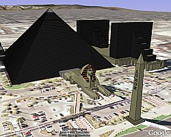Luxor Hotel and Casino in Google Earth