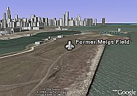 Meigs Field Chicago in Google Earth