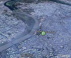 Surat India in Google Earth