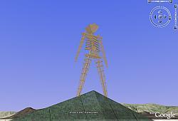 Hombre en Llamas 2007 en Google Earth