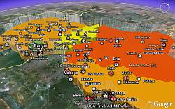 Central African Republic Humanitarian Information in Google Earth