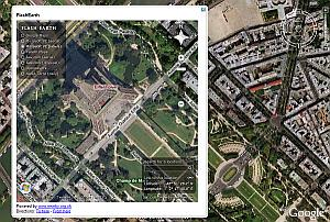 Mashup de FlashEarth con Google Earth