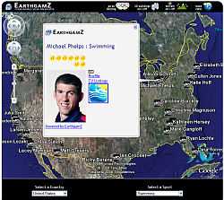 EarthGamz Olympics in Google Earth