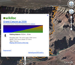 WikiLoc layer in Google Earth
