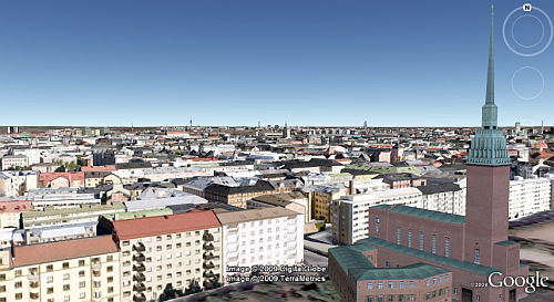 Helsinki Finland in 3D in Google Earth
