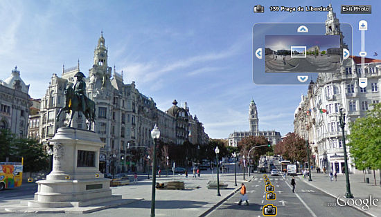 Street View in Porto, Portugal in Google Earth