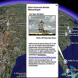 CBS News in Google Earth