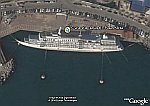 Capsized Cruise Ship in Korea in Google Earth