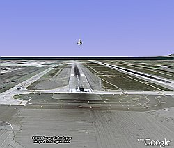 Flight Sim Flying in Google Earth