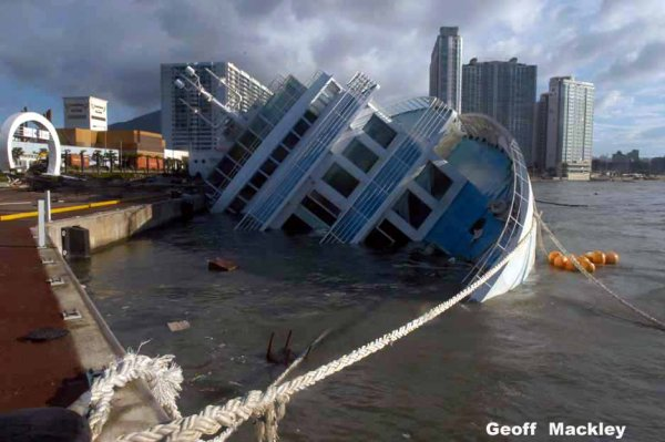 Capsized Cruise Ship Captured In Google Earth Maps Google - Cruise ship google earth