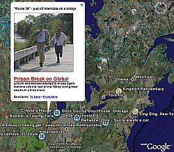 Prison Break in Google Earth