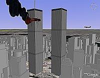 WTC under attack in Google Earth