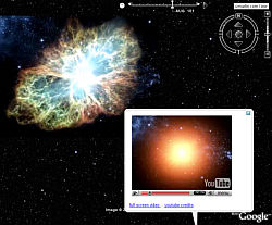 Explosión Supernova del Cangrejo en Google Earth