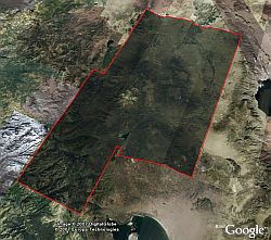 Steve Fossett search area imagery in Google Earth
