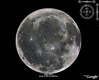 La Luna en Google Earth