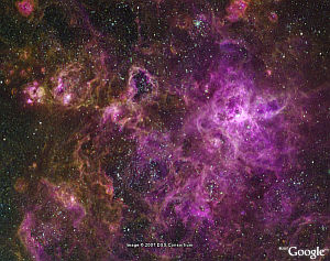 Large Magellanic Cloud in Google Earth