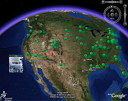 Sierra Club using Google Earth
