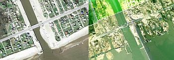 Hurricane Ike Damage Imagery in Google Earth