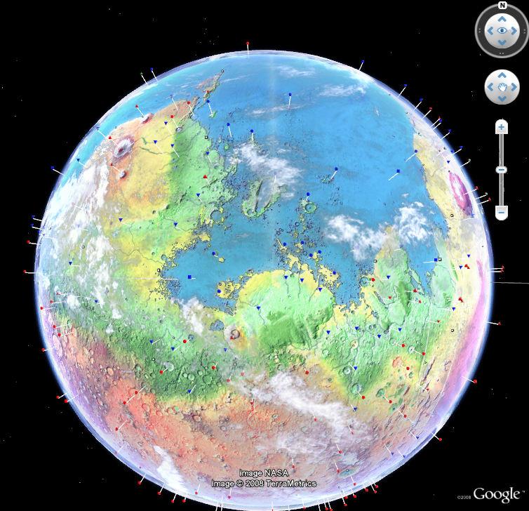 Modified Mars Add-on for Google Earth - Google Earth Blog