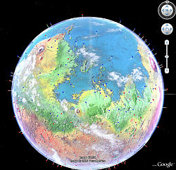 Future Modified Mars in Google Earth