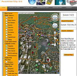 Peachtree City Interactive GIS map
