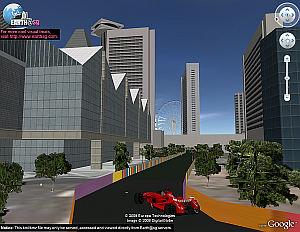Circuito del Gran Premio de F1 de Singapur en 3D