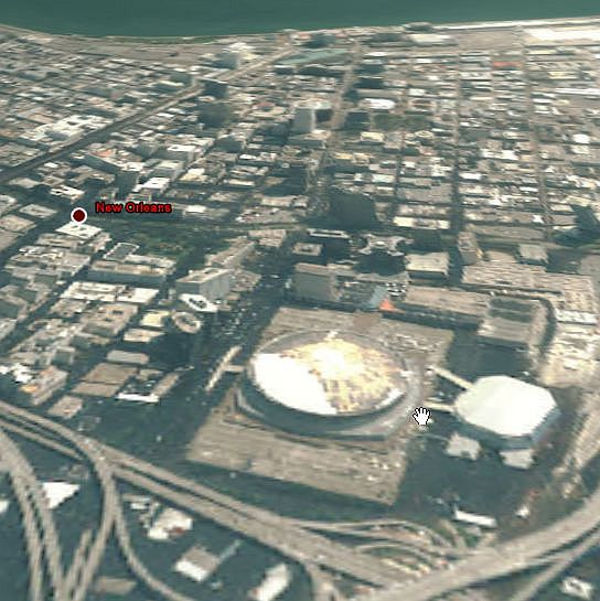 New Katrina Damage Photos in Google Earth