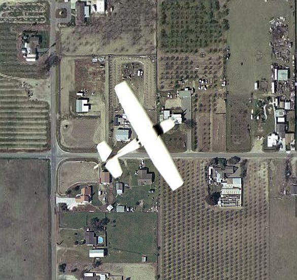 Planes In Flight Captured Google Earth