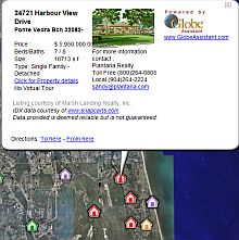 Plantana Real Estate Florida in Google Earth