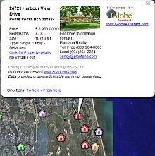 Plantana Real Estate Florida in Google Earth