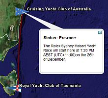 Regata Rolex Sydney Hobart 2007 en Google Earth