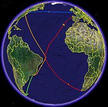 Volvo Ocean Race 2005 2006 in Google Earth
