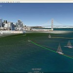 Boat race replays in Google Earth