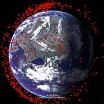 Space Debris Viewed in Google Earth