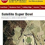 CNET Superbowl Guessing Game in Google Earth