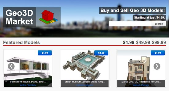 Buy And Sell 3d Models In The New Geo3d Market Google