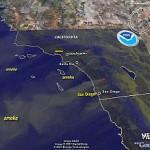 San Diego, California Fires – See Smoke in Google Earth