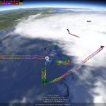 Tracking hurricane hunters in Google Earth