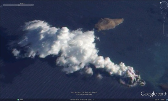 volcano forms a new island in the red sea google earth blog
