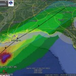 Tracking Tropical Storm Karen with Google Earth