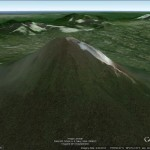 Indonesia's Mount Sinabung in Google Earth