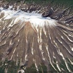 Lava flow shapes in Google Earth