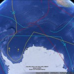 Viewing the Topography of the Thermohaline Circulation of the Oceans in Google Earth