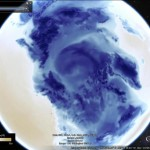 Viewing the polar vortex in Google Earth