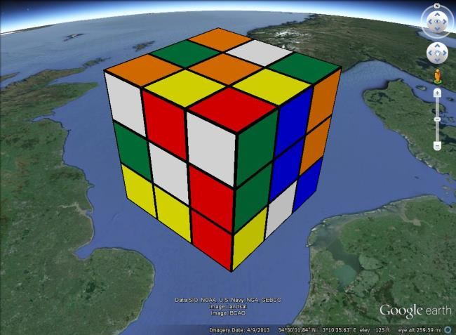 40 years of rubik 39 s cube google earth blog. Black Bedroom Furniture Sets. Home Design Ideas