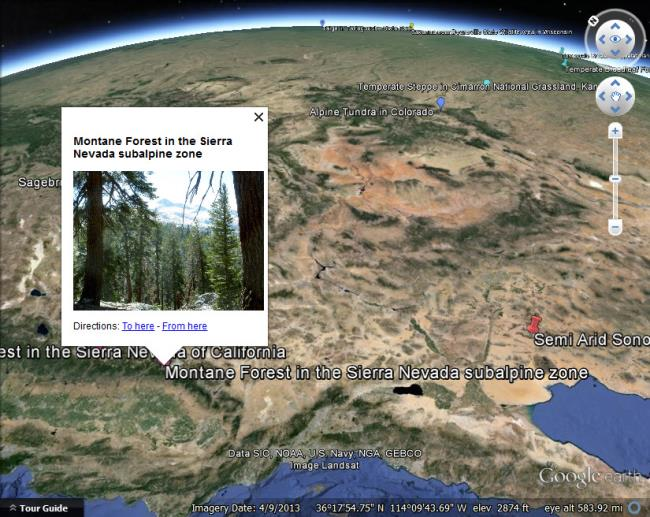 terrestrial biomes in google earth