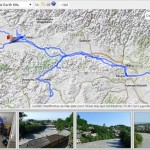 Traveling through Romania and Georgia with Google Earth