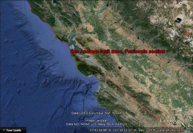 USGS fault lines
